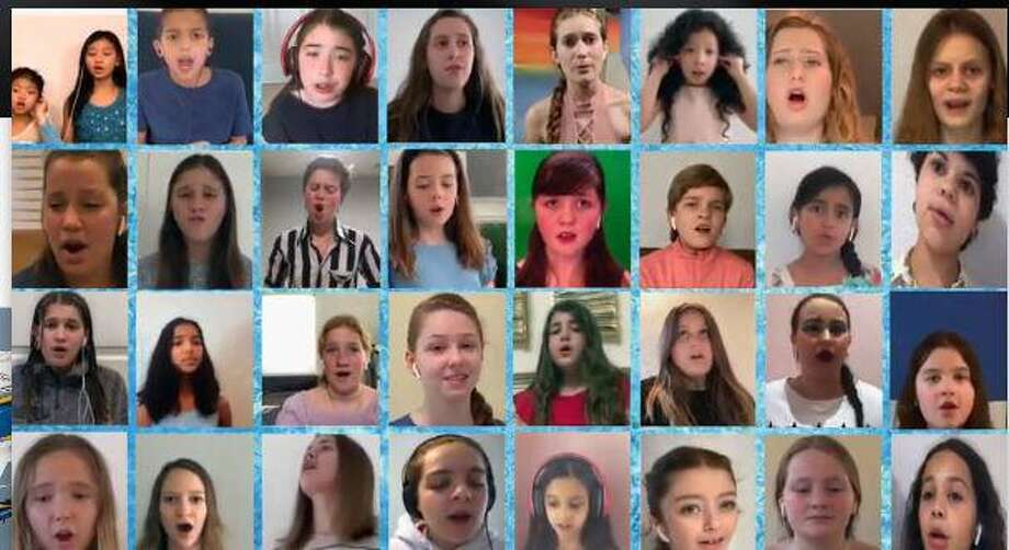 """Students at the Performing Arts Conservatory of New Canaan have madea virtual video titled""""Into The Unknown,"""" from a song from the movie, """"Frozen,"""" as a tribute to local first responders, and healthcare, and essential workers who have been going 'Into The Unknown' to help keep New Canaan, and the country healthy, and safe during the coronavirus pandemic. Photo: Screenshot From Submitted YouTube Video / Contributed Photo"""