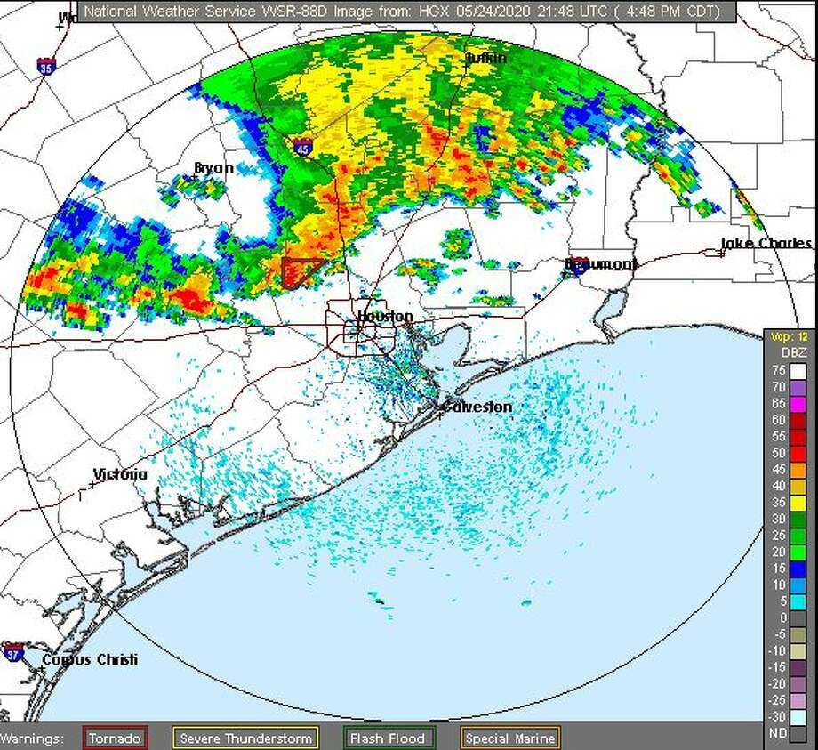 The National Weather Service has issued a tornado warning in effect for northwestern Harris, eastern Waller, and southwestern Montgomery counties until 5 p.m. Photo: NWS