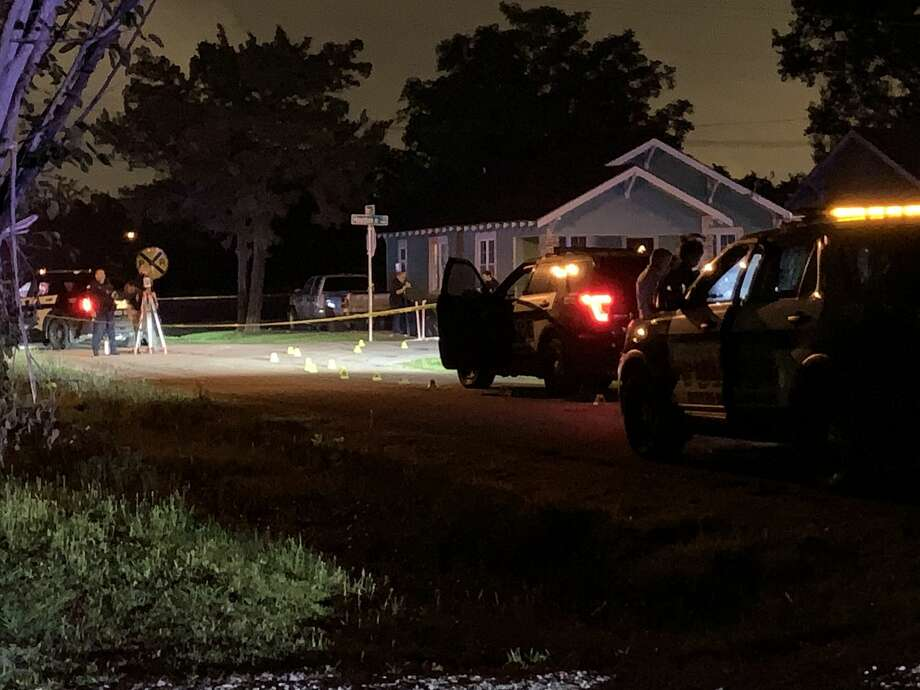 Beaumont police investigate a fatal sooting in the 1100 block of Houston Street Sunday, May 24, 2020. Photos provided by Eric Williams Photo: Provided By Eric Williams