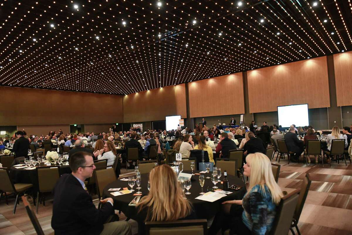 The Top Workplaces Awards Reception drew 350 people to the Albany Capital Center. This year's event was postponed from its originally scheduled date in early April due to the COVID-19 pandemic and new date will be announced in the future. (Lori Van Buren/Times Union)