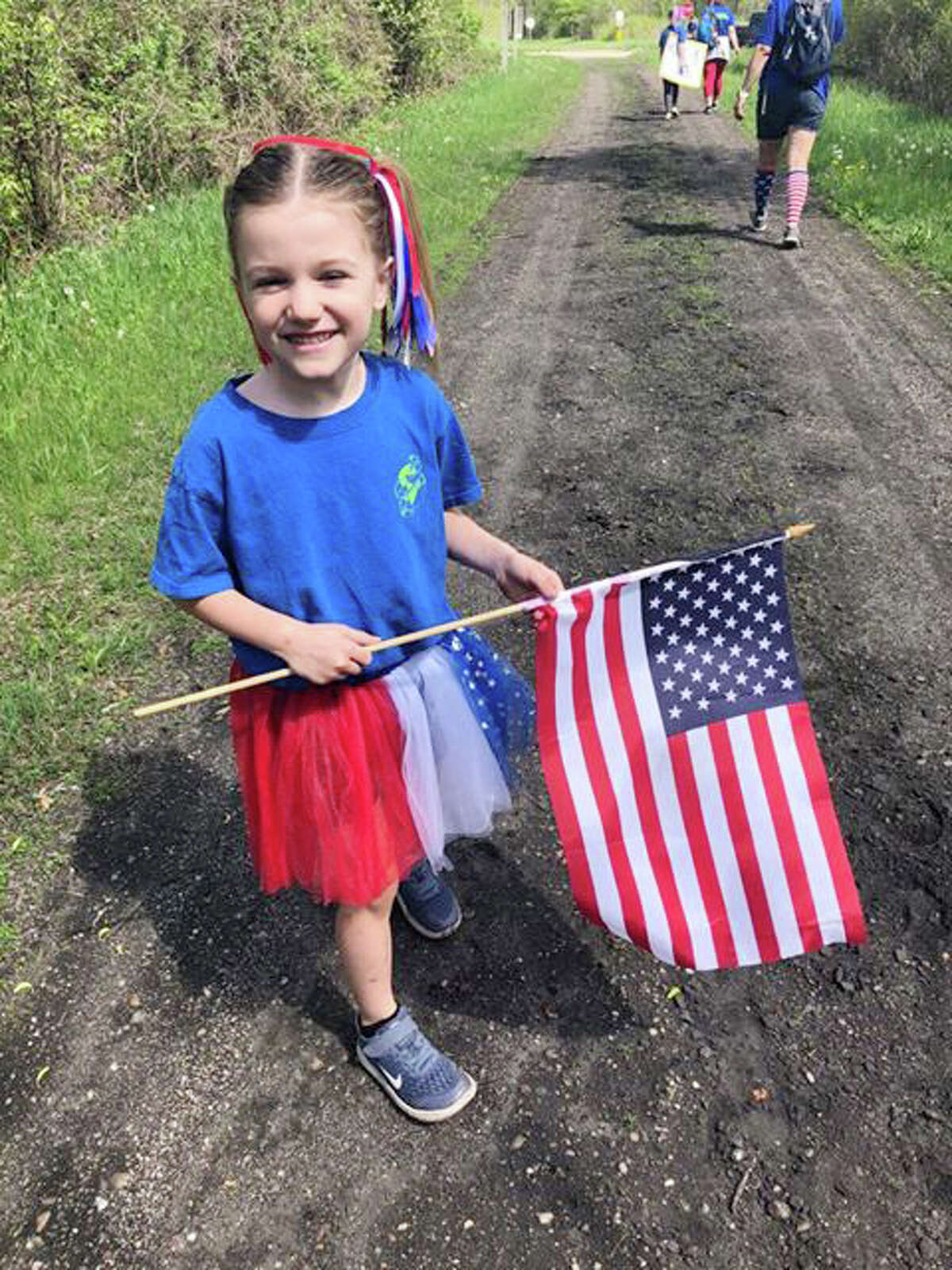 The Vining Volunteers from Stanwood wanted to raise money for disabled veterans this Memorial Day Weekend. On Sunday, volunteers did a walk. Some completed 3 miles, some 10 miles, and 6 of of them finished 20 miles. Together, they raised $1,145 for Disabled American Veterans.