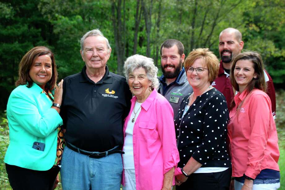 Kermit and Jean Hainley with their daughters and grandchildren. (Courtesy photo)