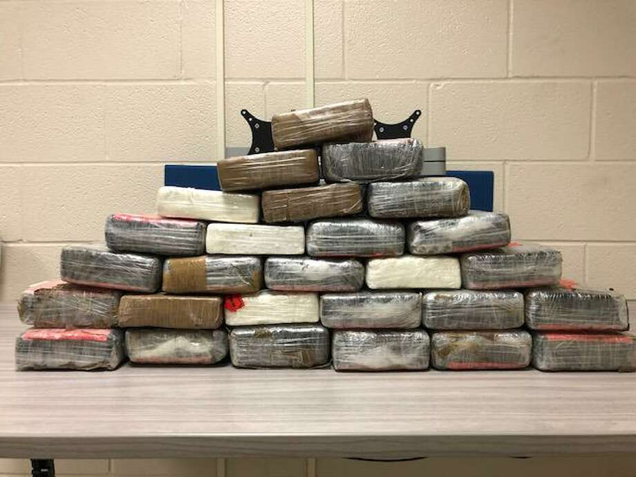 Shown are the 67.15 pounds of cocaine with an estimated street value of $517,820 which were seized at the World Trade Bridge. Photo: Courtesy Of U.S. Customs And Border Protection