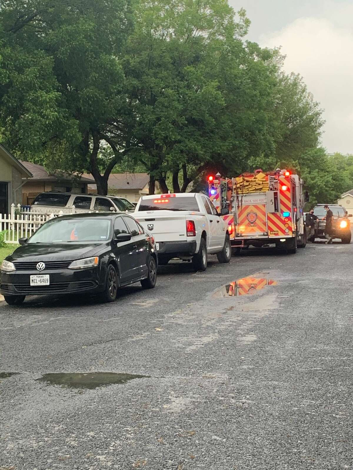 San Antonio firefighters say one man is dead following a house fire on the Northeast Side Monday morning, May 25, 2020.