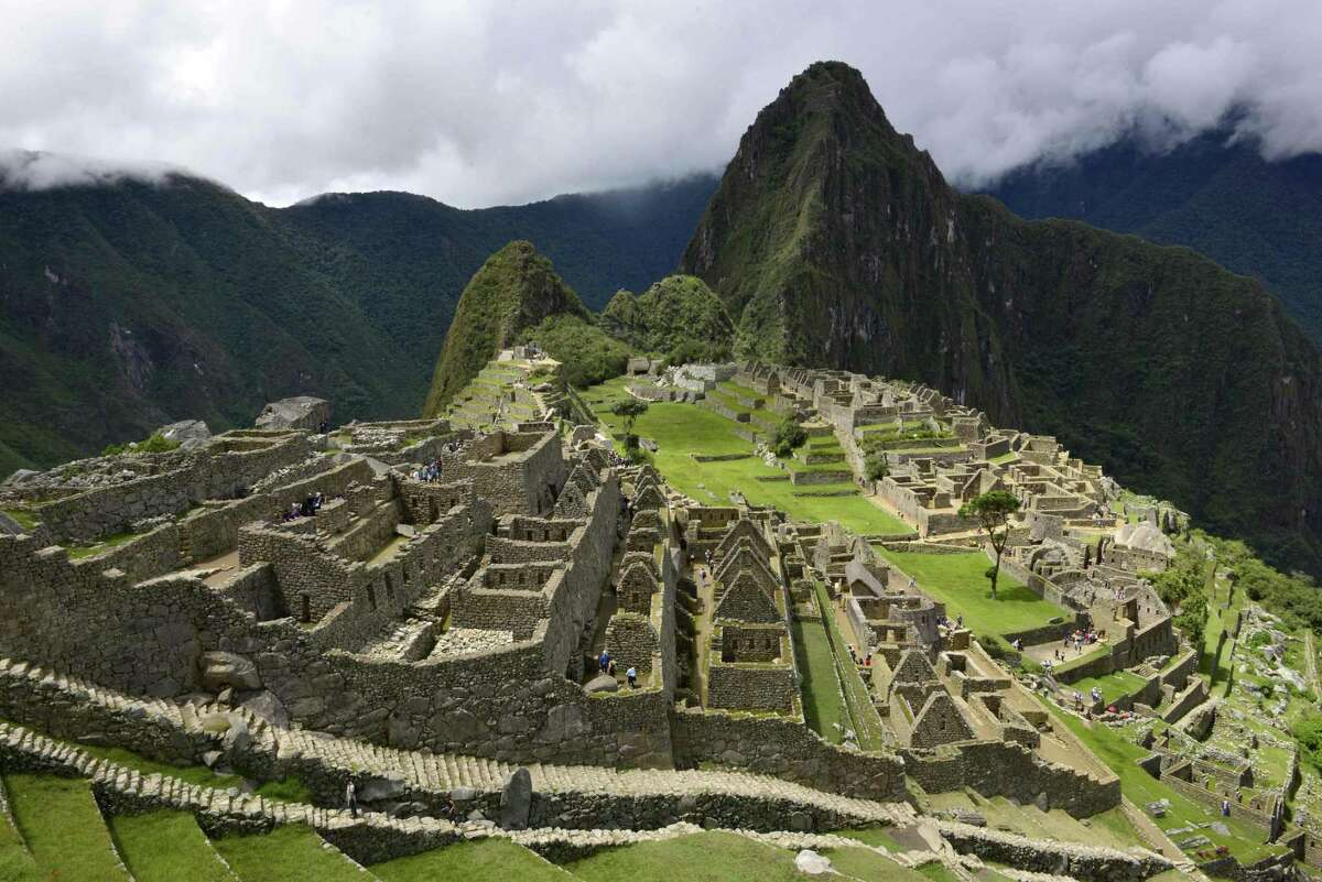 View of the Machu Picchu complex, the Inca fortress enclaved in the south eastern Andes of Peru taken on Dec. 30, 2014.