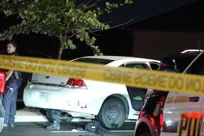 San Antonio police are searching for those involved in a triple shooting early Monday morning on the East Side.