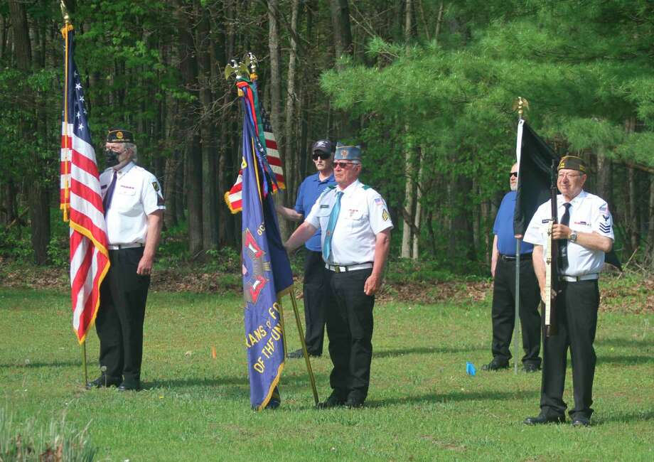 Manistee County veterans groups held Memorial Day ceremonies thatwere scaled back due to restrictions set in place to limit the spread of the coronavirus. (Kyle Kotecki/News Advocate)