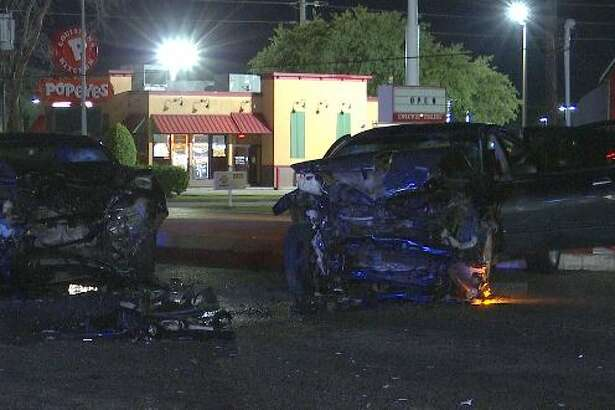 Two vehicles traveling on State Highway 6 on Sunday night crashed into each other after the teenage driver of a black Nissan Maxima failed to yield right of way.