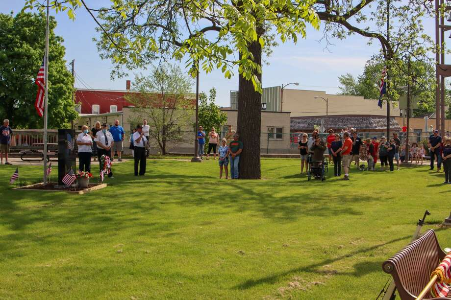 Community members of the village of Sebewaing gathered in the town park for a intimate and patriotic Memorial Day ceremony to remember and honor those who paid the greatest sacrifice. Photo: Scott Nunn/Huron Daily Tribune