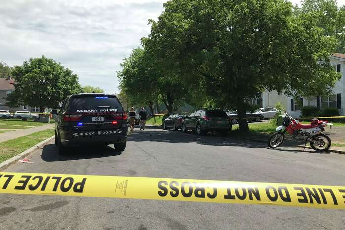 Albany police were investigating a shooting Monday, May 26, 2020, on Colonie Street that sent one victim to the hospital