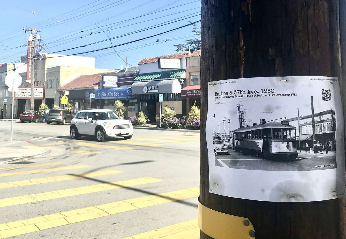An OpenSFHistory photo is visible at the corner of 37th Avenue and Balboa Street.