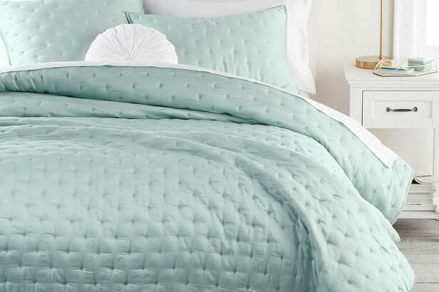 Pottery Barn Teen's Amelia bedding collection is made of Tencel, a soft, wrinkle-resistant material made of eucalyptus fibers.