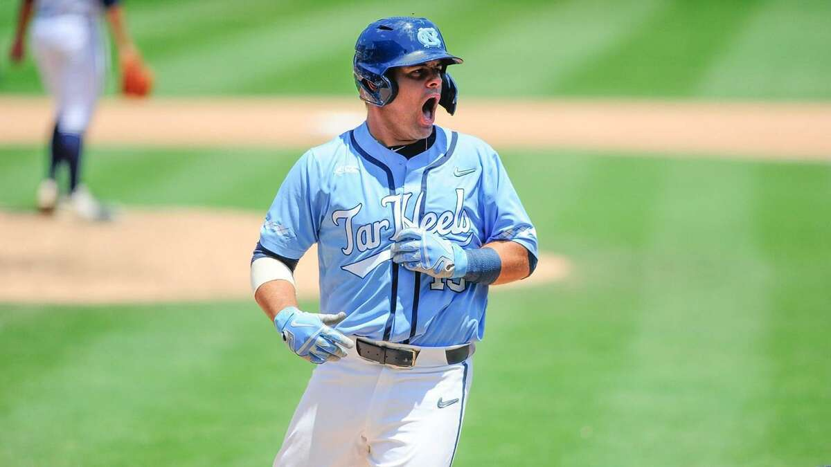 Aaron Sabato, a 2018 Brunswick School graduate, is having an outstanding freshman season as a member of the University of North Carolina baseball team. Sabato recently earned Collegiate Freshman All-American honors and was chosen as the Co-National Freshman of the Year. He was also named the ACC Freshman of the Year and was a First Team All-American selection. Photo courtesy of University of North Carolina athletics communications department.