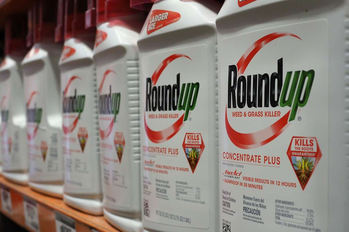 Bottles of Monsanto's Roundup are seen for sale June 19, 2018 at a retail store in Glendale, California. (Robyn Beck/AFP via Getty Images/TNS)