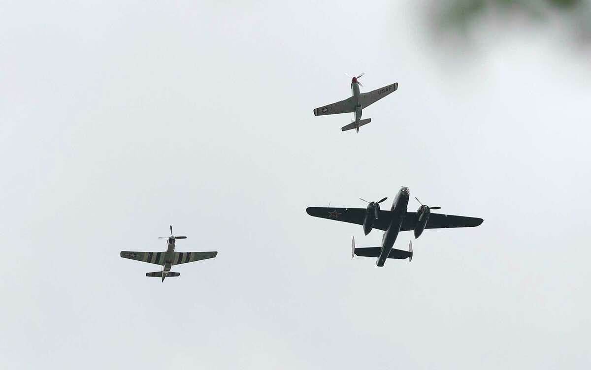 Vintage aircraft from the Lewis Air Legends perform the