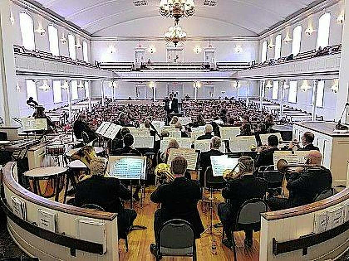 The Jacksonville Smyphony Orchestra performs one of its annual free youth concerts Feb. 18 at MacMurray College's Annie Merner Chapel.