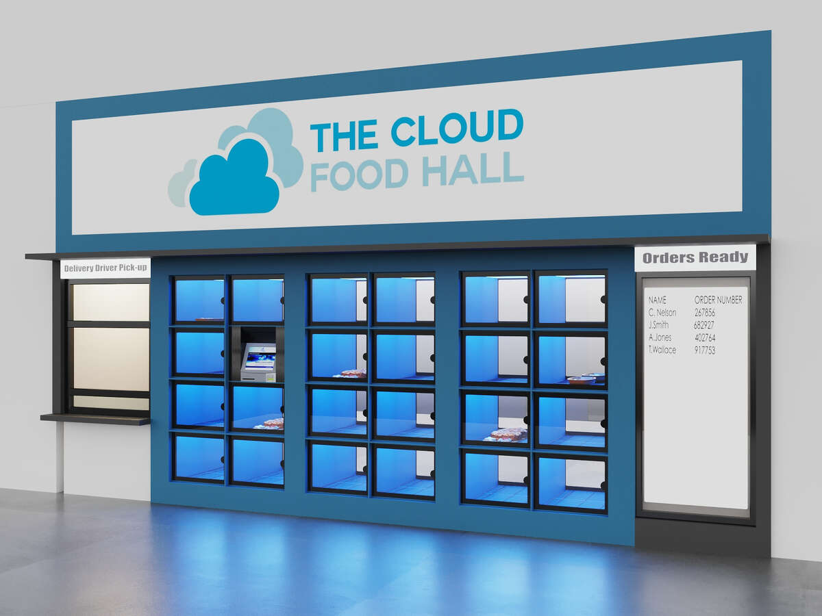 A rendering of The Cloud Food Hall, due to open in downtown Albany this summer.