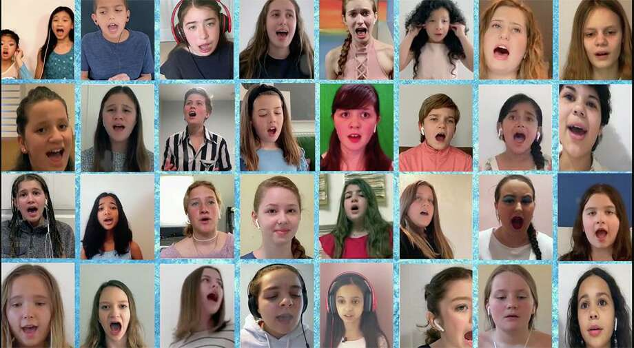 """Students from the Performing Arts Conservatory of New Canaan created the """"Into the Unknown"""" video honoring first responders and essential workers. Photo: Contributed Photo"""