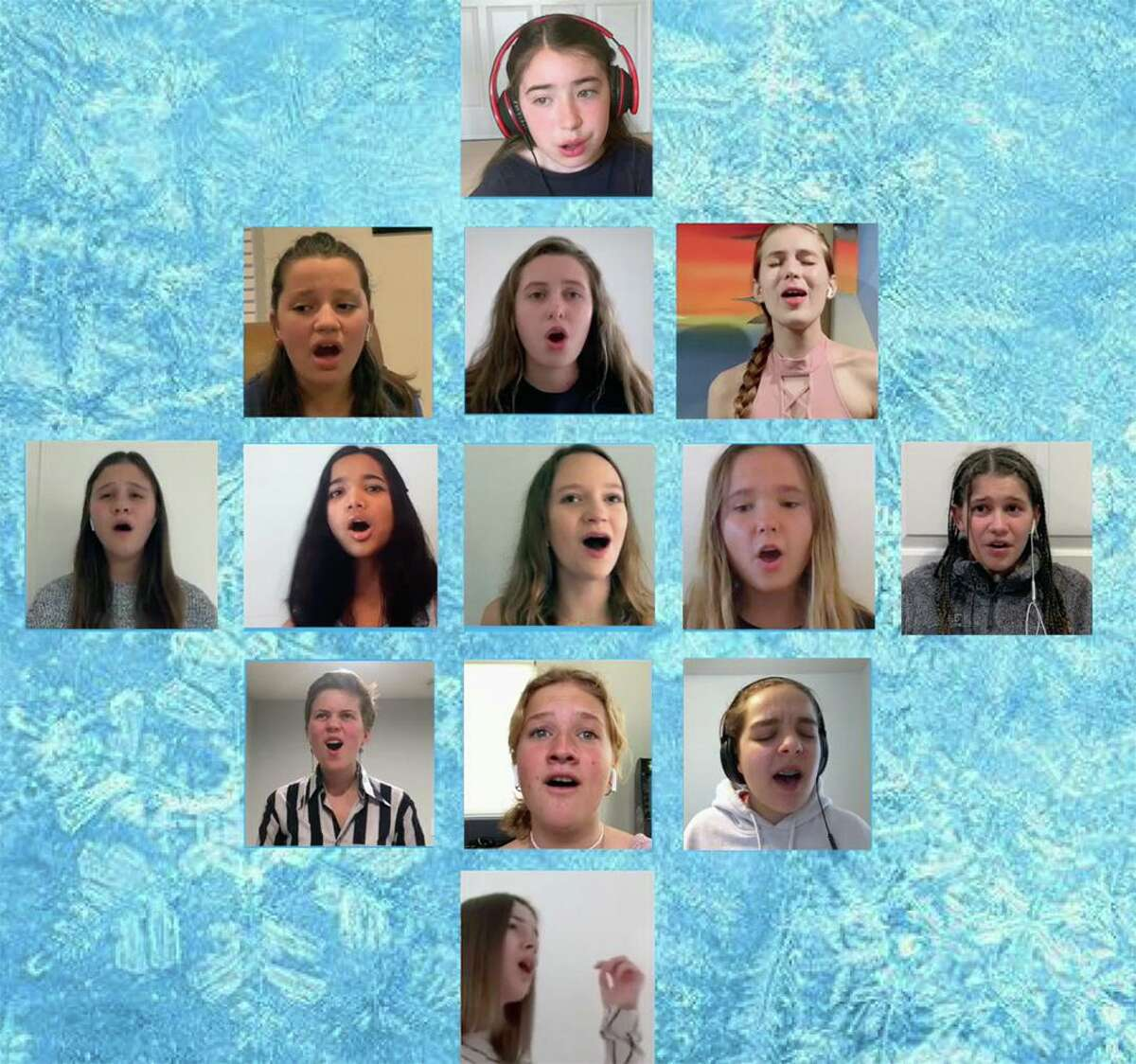 """Students from the Performing Arts Conservatory of New Canaan created the """"Into the Unknown"""" video honoring first responders and essential workers."""