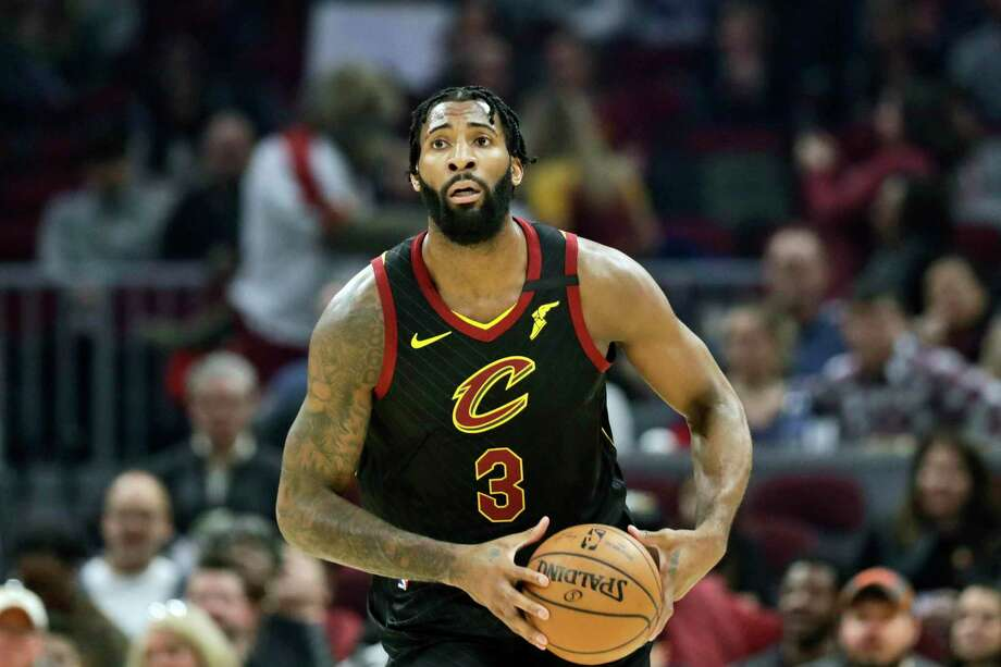 Cleveland Cavaliers' Andre Drummond plays against the Atlanta Hawks in the first half of an NBA basketball gamein Cleveland on Feb. 12. Photo: Tony Dejak / AP / Copyright 2020 The Associated Press. All rights reserved.