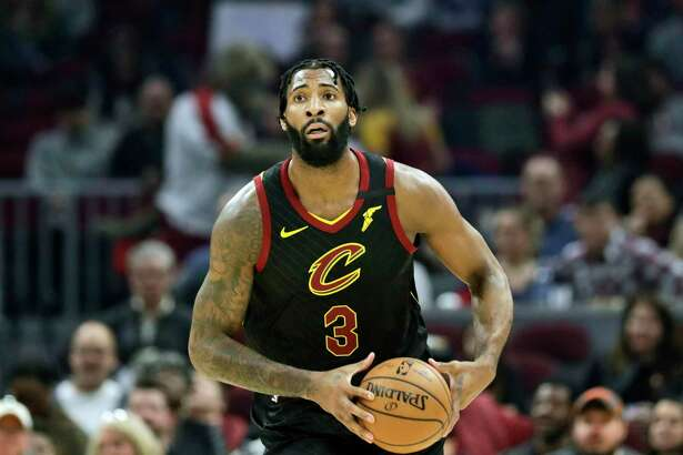 Cleveland Cavaliers' Andre Drummond plays against the Atlanta Hawks in the first half of an NBA basketball gamein Cleveland on Feb. 12.
