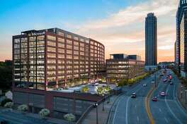 Microsoft Corp. will occupy the two-building Atlantic Yards office development in Atlanta. Houston-based Hines is developing the 523,000-square-foot project in partnership with Invesco Real Estate.