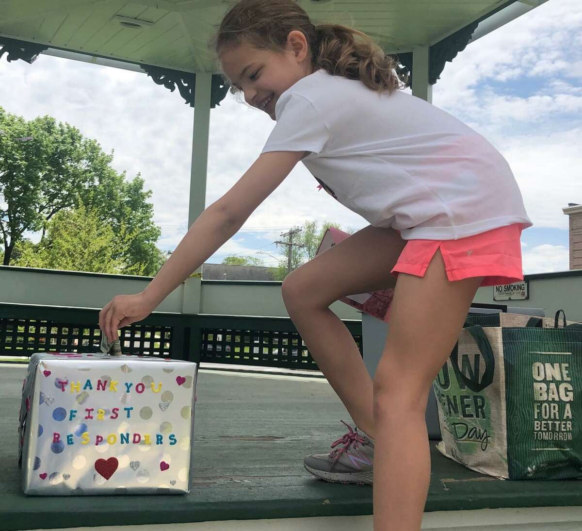 Lyliana Martinez of New Milford collected $510 to donate to first responders as part of her birthday celebration May 17.