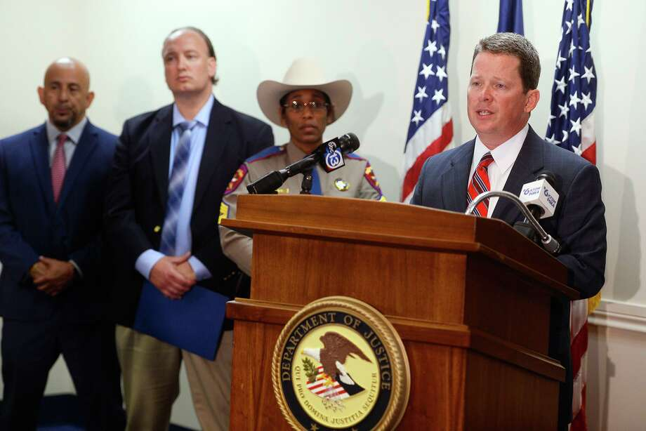 U.S. Attorney Joseph D. Brown speaks during a press conference about recent explosive devices found in Beaumont. Jonathan Matthew Torres, a 40-year-old Beaumont man, has been arrested and accused in the case. 