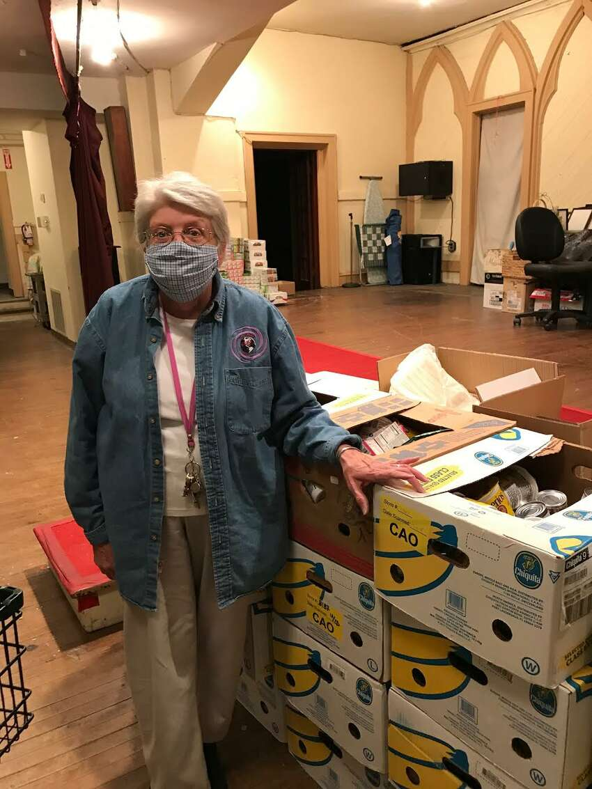 Sister Mary Ellen, 69, a Sister of Mercy and retired elementary school principal, runs food pantries at St. Mary's and Sacred Heart in Albany, as well as a soup kitchen