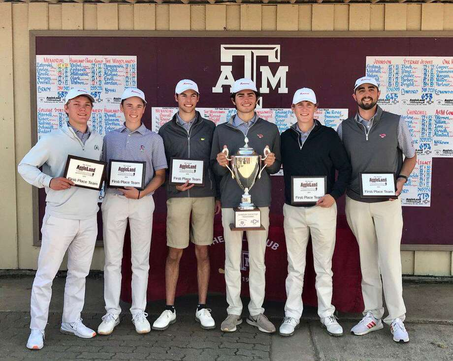 The Memorial boys golf team won the Aggieland Match Play Invitational and placed eight players on the Texas Association of Golf Coaches all-state team. Photo: Memorial High School Golf