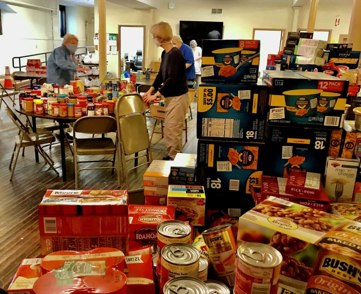 Parishioners at St. Pius X in Loudonville donated more than twice the normal amount of food in May for the Sacred Heart food pantry.