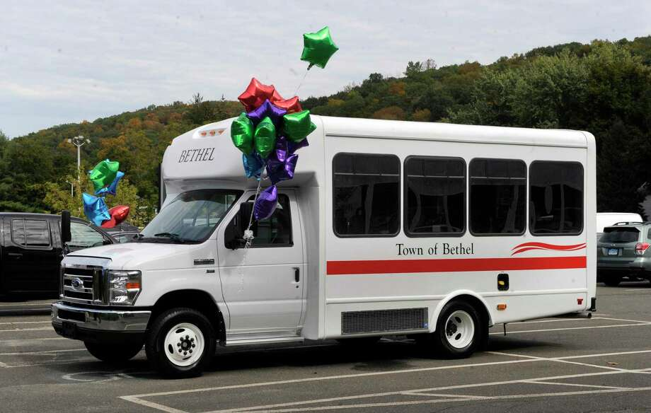 The first handicapped accessible van for the Senior Center in Bethel arrived Wednesday, Oct. 11, 2017. Photo: Carol Kaliff / Hearst Connecticut Media / The News-Times