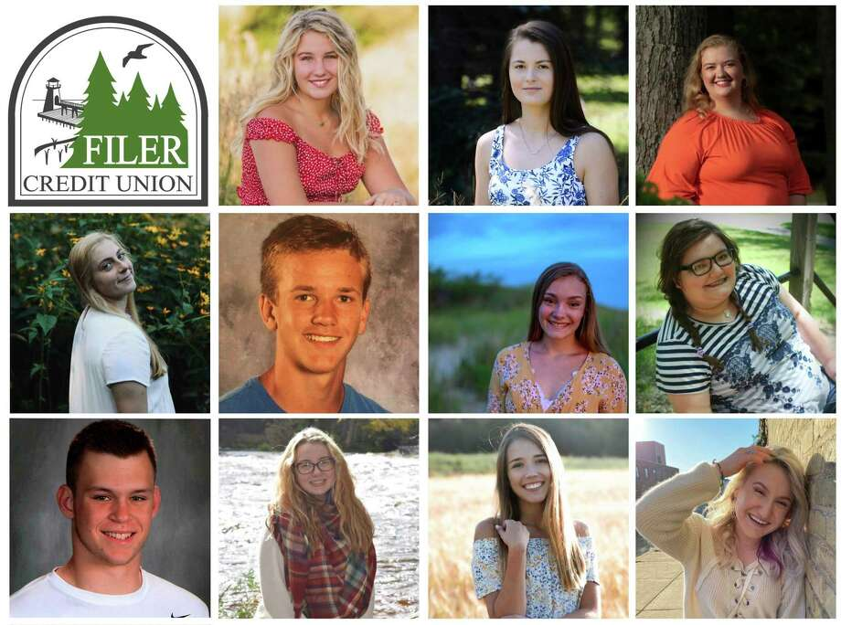 Composite photo of scholarship winners: TOP ROW (left to right) Zoee Zatarga (Ludington High School), Nicole Kaminski (Manistee Catholic Central), Claire Wittlieff (Manistee Catholic Central) - Middle Row (left to right) Rylee Feliczak (Manistee Catholic Central), William Elbers (Manistee High School), Erin Rhodea (Manistee High School), Aurora Johnson (Manistee High School) - Bottom Row (left to right) Alliyiah Torrey (Onekama High School), Sydnee Hrachovina (Onekama High School), Faith Kidd (ASM Tech) - not pictured: Taylor Bennett (Onekama High School)