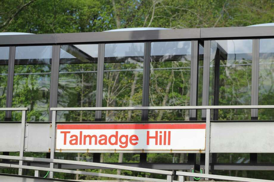 New shelters have recently been installed on the platform at the Talmdage Hill train station. The train station is on the New Canaan, and Darien border. Photo: John Kovach / Hearst Connecticut Media / New Canaan Advertiser