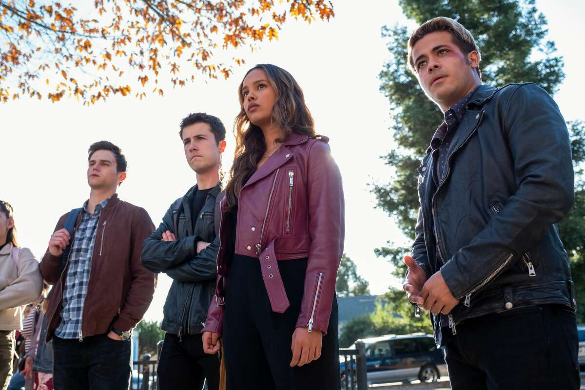 """The nerves eventually wore off, and over the next five months of filming around the North Bay, Castellanos made quick friends with his co-stars, joining them on wine tastings in Napa, trips to San Francisco and on Oakland golf outings - a new hobby for Castellanos. """"I'd never even picked up a golfing stick and I'm talking to Devin Druid [who plays Tyler Down], and he's like, 'You like golfing?' I'm like, 'Yeah, man, I know how to golf. Yeah, sure,'"""" Castellanos remembers. """"I felt like a senior that moved to a new high school two months before graduation. I'm just kinda the new kid walking around being really quiet until I make some friends."""" While other series-long characters had spent years working on their character building, Castellanos was thrust into it. It all happened very quickly, he says. """"It didn't really hit me until I got on the phone with my mom one time. I was in my trailer and I don't know, I just started breaking down because it was just like, someone pinch me. I can't believe I'm here."""""""