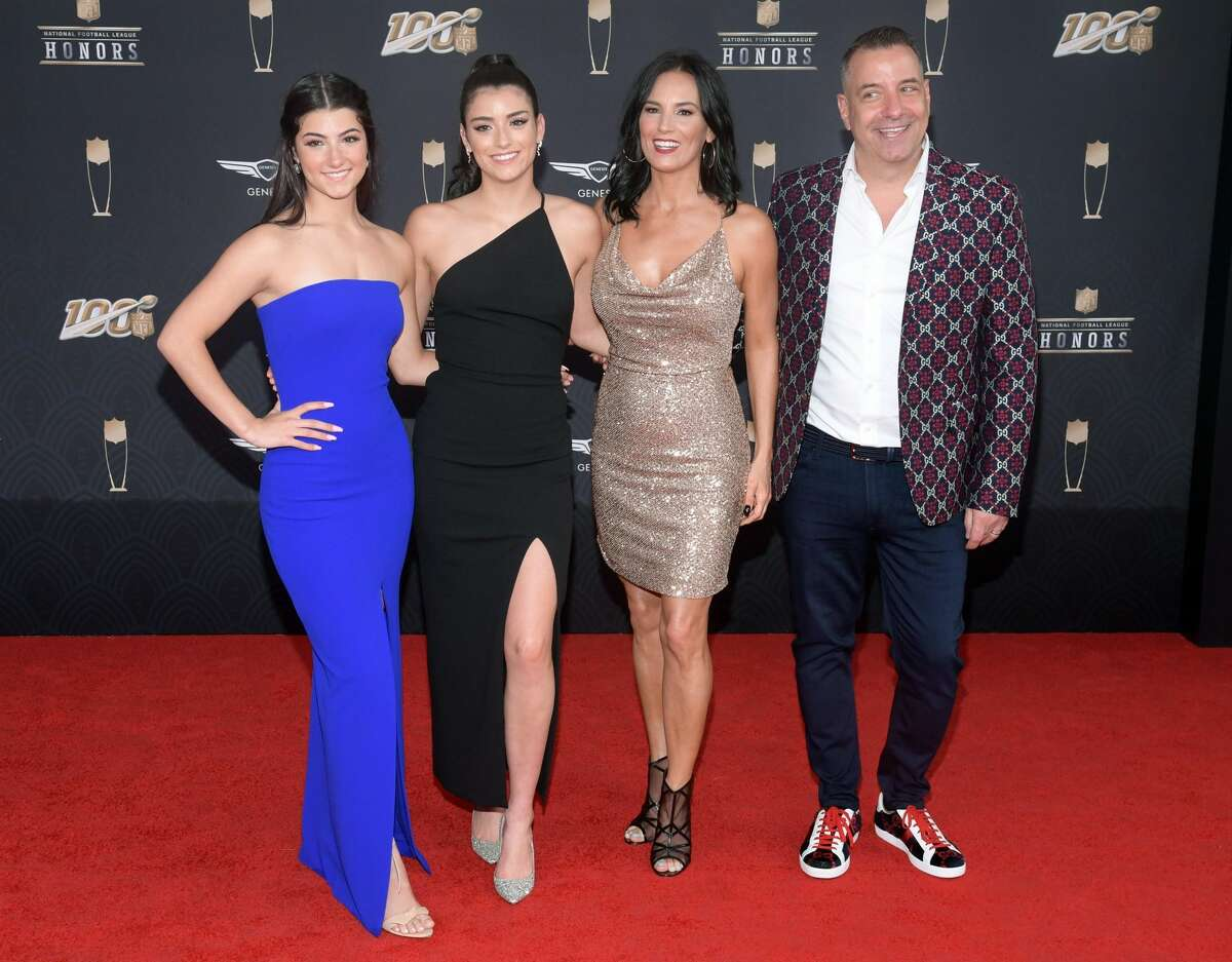 Charli D'Amelio, Dixie D'Amelio, Heidi D'Amelio, and Marc D'Amelio attend the 9th Annual NFL Honors at Adrienne Arsht Center on Feb. 1, 2020 in Miami, Florida. Marc D'Amelio, father of Charli and Dixie, also has a following. He is sometimes referred to as the