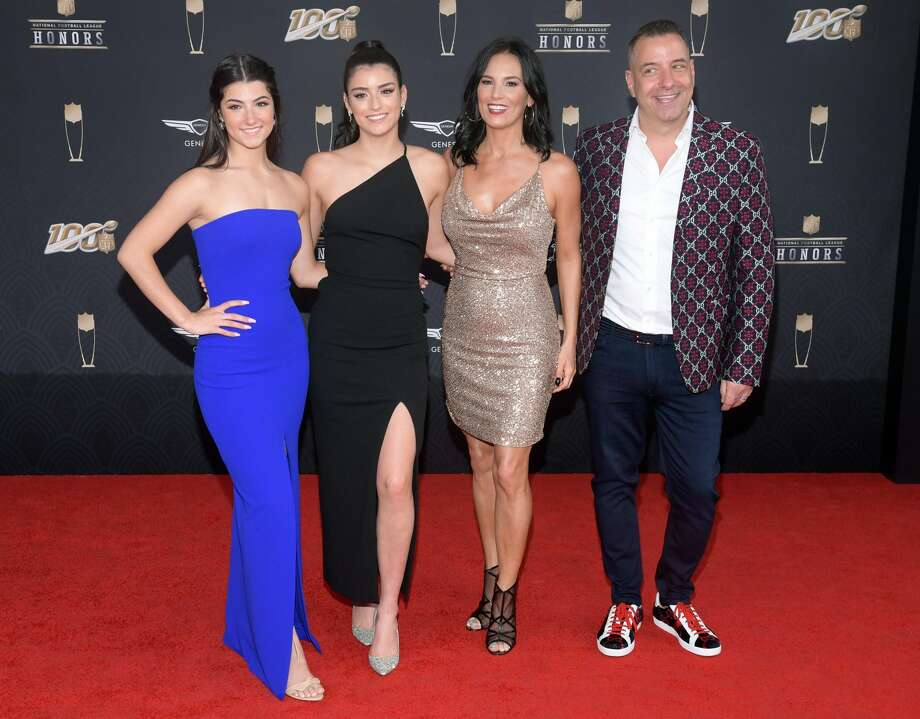 (L-R) Charli D'Amelio, Dixie D'Amelio, Heidi D'Amelio, and Marc D'Amelio attend the 9th Annual NFL Honors at Adrienne Arsht Center on February 01, 2020 in Miami, Florida. (Photo by Jason Kempin/Getty Images) Photo: Jason Kempin/Getty Images / 2020 Getty Images