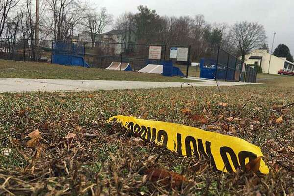 The Danbury City Center Skate Park on March 19, 2020, the day after 21-year-old Willy Placencia was fatally stabbed.