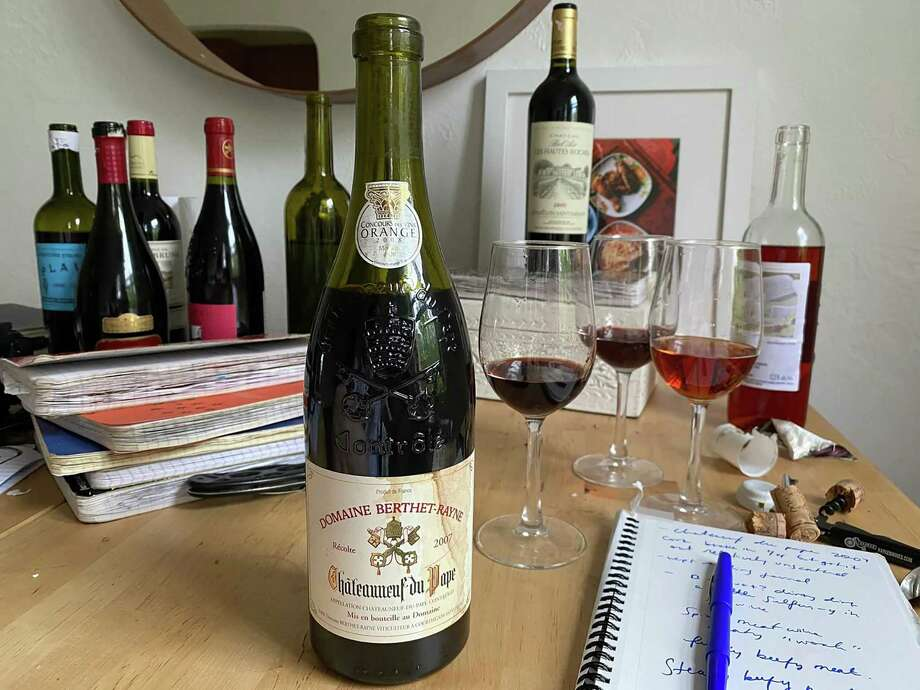 The writer's wine and travel journals in her Washington, D.C., apartment in March. Photo: Washington Post Photo By Natalie Compton / Natalie Compton