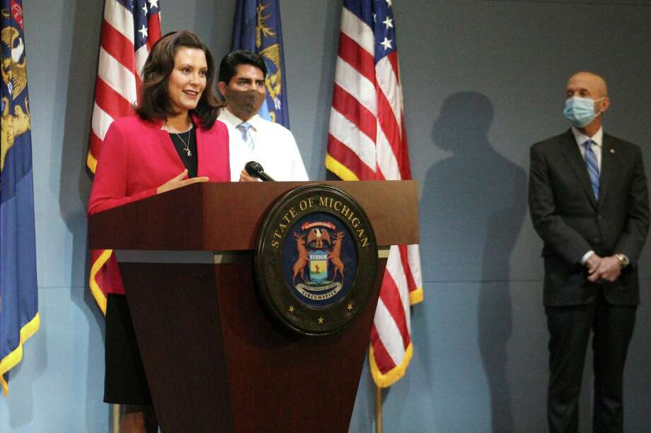 Gov. Gretchen Whitmer signed executive order 2020-96 on Thursday to reopen retail businesses and auto dealerships by appointment statewide starting May 26 as part of her MI Safe Start plan. (Courtesy photo/Office of the Govenor)