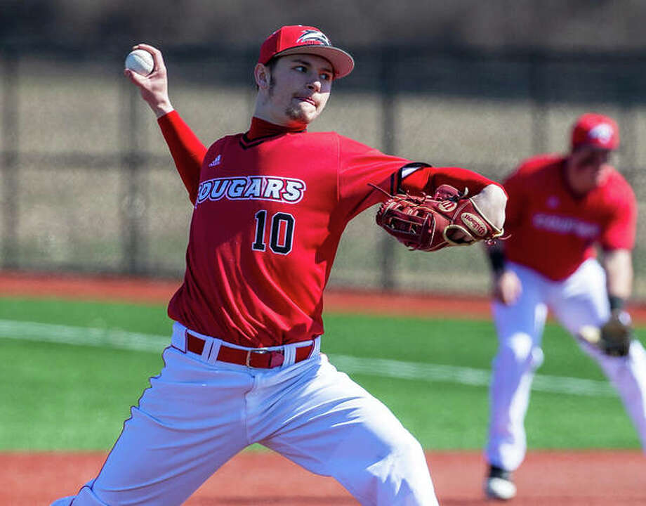 SIUE senior Kenny Serwa delivers a pitch during his start against Tennessee Tech on March 7 at SIUE's Simmons Baseball Complex in Edwardsville. Serwa, who was off to a spectacular start when the season was cancelled, Tuesday was named as a Second Team All-America selection. Photo: SIUE Athletics