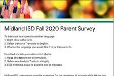 Midland ISD has released surveys to parents and teachers to evaluate supports needed as the district prepares for school re-entry for the 2020-21 school year.