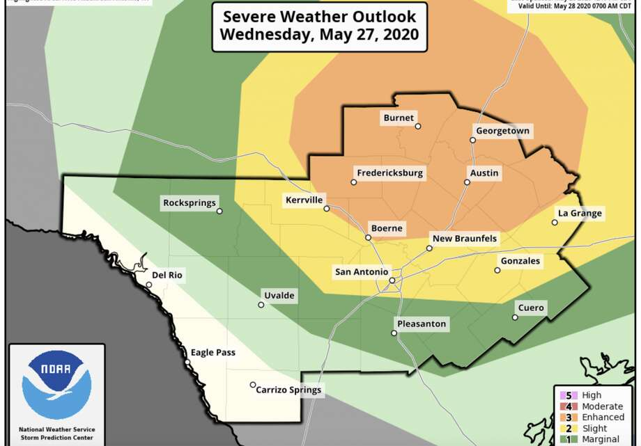 Strong to severe weather possible in San Antonio on Wednesday. Photo: Courtesy NWS