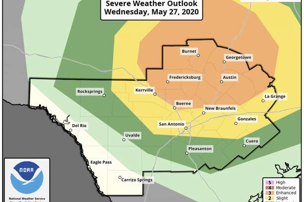 Strong to severe weather possible in San Antonio on Wednesday.