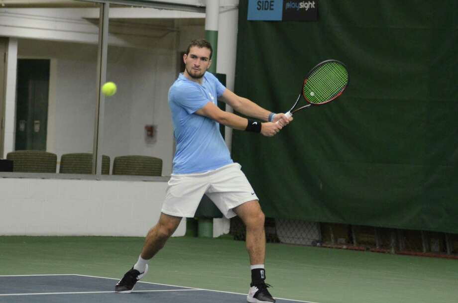 Greenwich High School graduate Will Blumberg earned numerous accolades during his four-year tennis career at the University of North Carolina. He earned All-America accolades eight times in four seasons, receiving the honor in singles and doubles play each year. He was recently named the Intercollegiat Tennis Assocation Player of the Year. Photo: Photo Courtesy Of UNC Athletic Communications.
