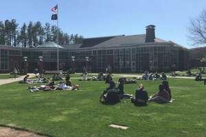 Quinnipiac University quad in front of the student center
