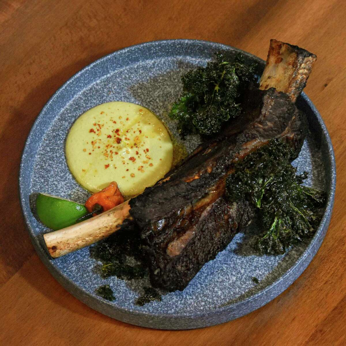 Dishes include beef ribs at Frida Mexican Restaurant & Bar.