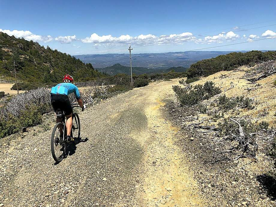 Mountain biker ventures up 2,000-foot climb en route to summit of Mount St. Helena Photo: Michael Pechner / Michael Pechner / Special To The Chronicle