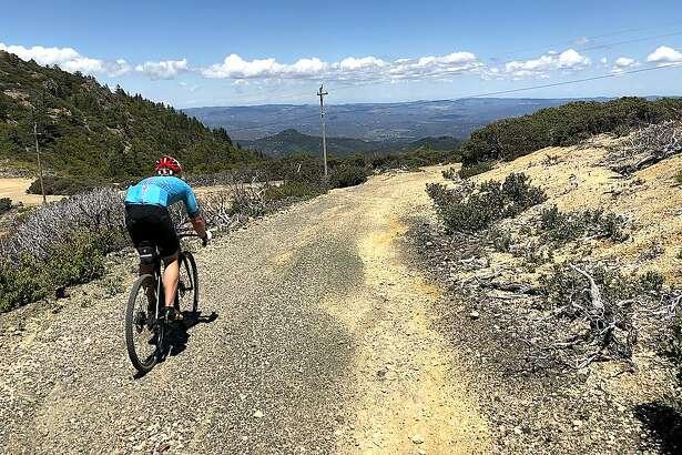 Mountain biker ventures up 2,000-foot climb en route to summit of Mount St. Helena
