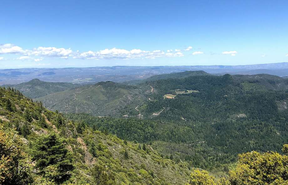 The view looking west from the summit of 4,343-foot Mount St. Helena Photo: Michael Pechner / Michael Pechner / Special To The Chronicle